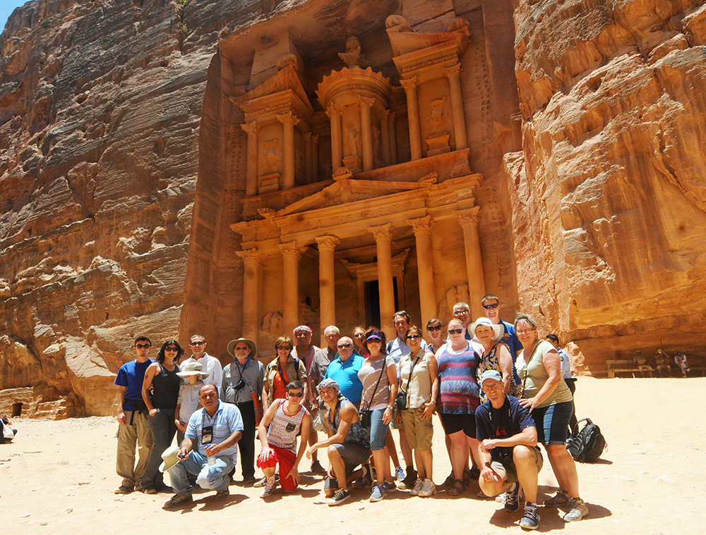Petra is considered one of the 7 Modern Wonders of the World