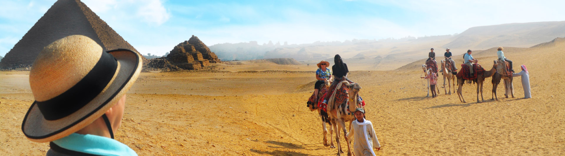 Un paseo a camello en Egipto