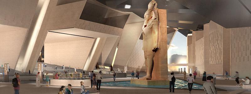 Grand Egyptian Museum interior