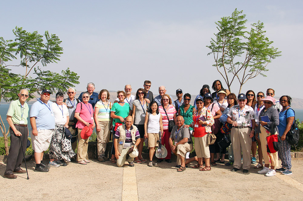 Group in the Sea of Galilee