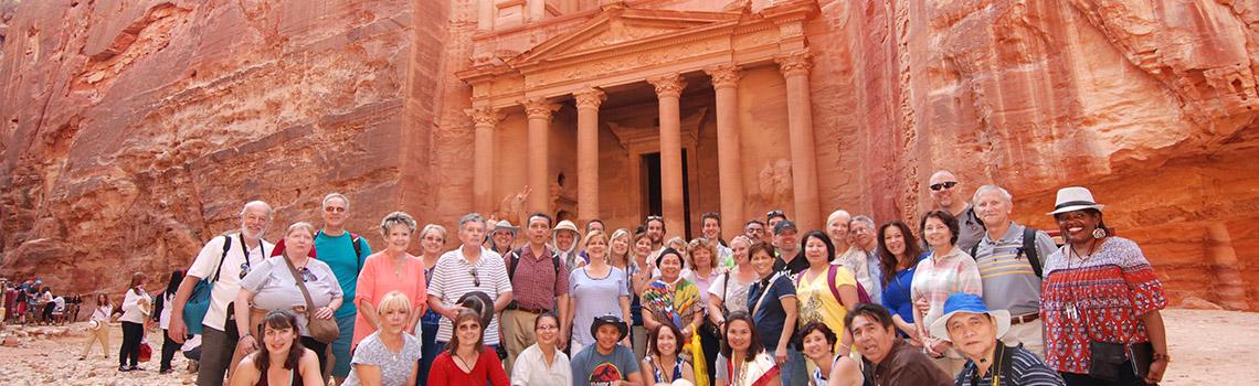 En Petra visitando