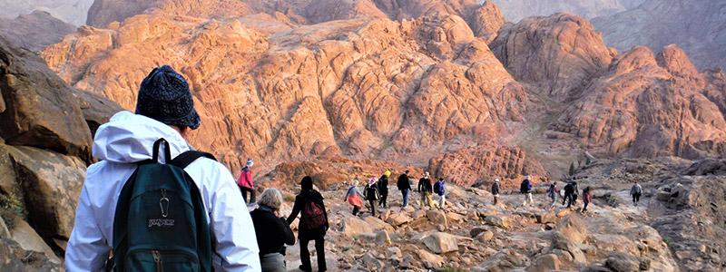 Suba al Monte Sinaí, donde Moisés recibió los Diez Mandamientos