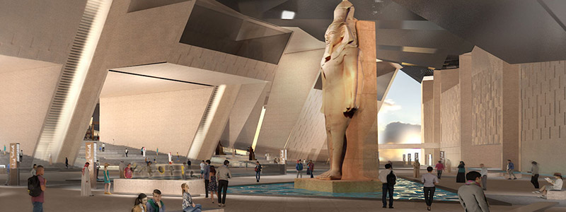 Grand Egyptian Museum interior