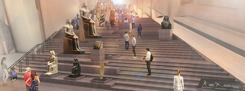 Grand Egyptian Museum stairs